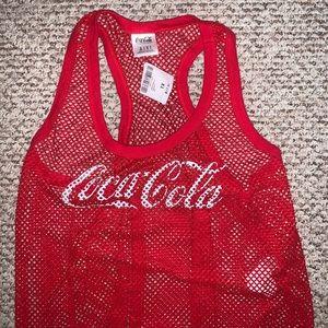 NWT Coca Cola Red Fishnet Tank